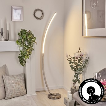 Kimbolton Lámpara de Pie LED Níquel-mate, 1 luz