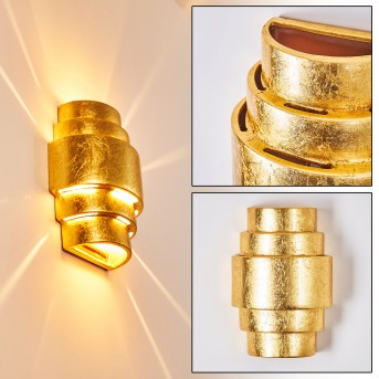 Handan Aplique dorado, 1 luz