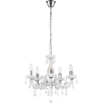 Globo Cuimbra II Cristal Blanca, 5 luces