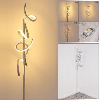 Lavaca Lámpara de Pie LED Plata, 2 luces