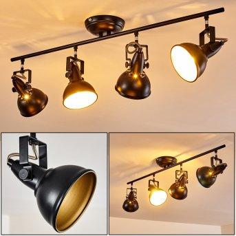 Lámpara de Techo Tina Negro, 4 luces
