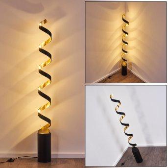 Rezat Lámpara de Pie LED Negro-dorado, 1 luz