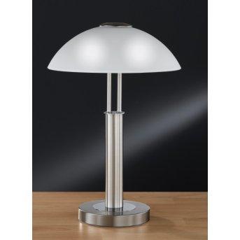 Wofi PRESCOT Lámpara de mesa Níquel-mate, 2 luces