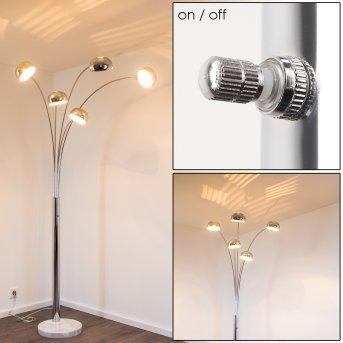 Nikkala Lámpara de Pie Cromo, 5 luces