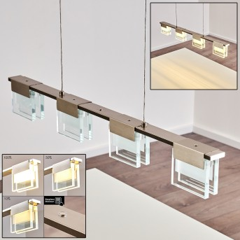 Aadorf Lámpara Colgante LED Níquel-mate, 4 luces