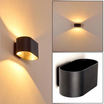 Aplique Dapp Negro, 1 luz