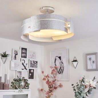 Novara Lámpara de techo Plata, 3 luces