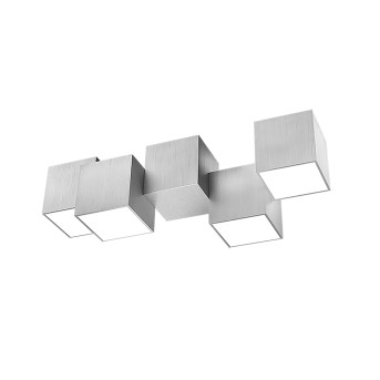 Grossmann ROCKS Lámpara de Techo LED Aluminio, 4 luces