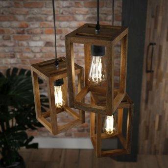 Siddeburen Lámpara Colgante Madera oscura, 3 luces