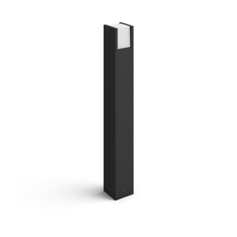 Philips Hue White Fuzo Poste de Jardín LED Negro, 1 luz