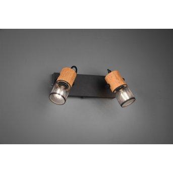 Trio Tosh Proyector LED Negro, 2 luces