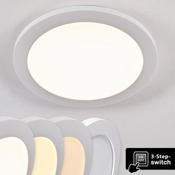 Siguna Lámpara de Techo LED Blanca, 1 luz