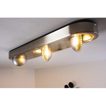 Granada Lámpara de techo LED Níquel-mate, 3 luces