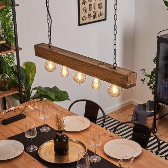 Berat Lámpara Colgante Negro, Marrón, 5 luces