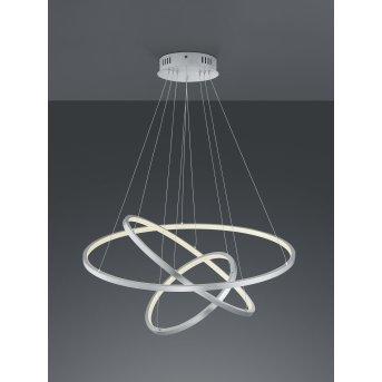 Trio Aaron Lámpara Colgante LED Níquel-mate, 1 luz, Mando a distancia, Cambia de color