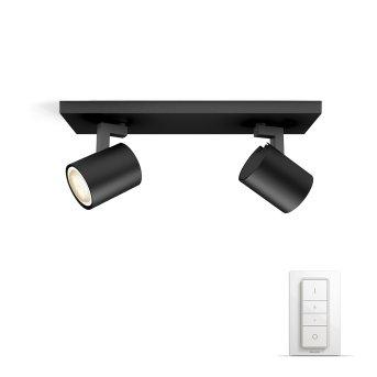 Philips Hue Ambiance White Runner Set básico por spot de techo Negro, 2 luces, Mando a distancia