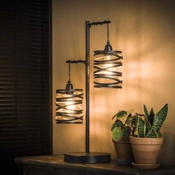 SLUIS Lámpara de mesa Negro, 2 luces