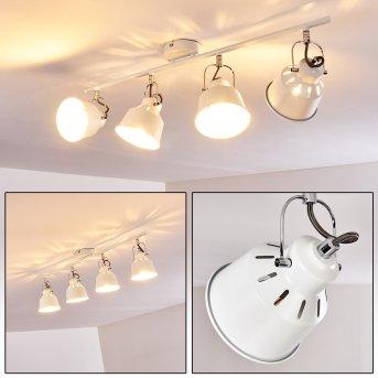 Safari Lámpara de Techo Blanca, 4 luces