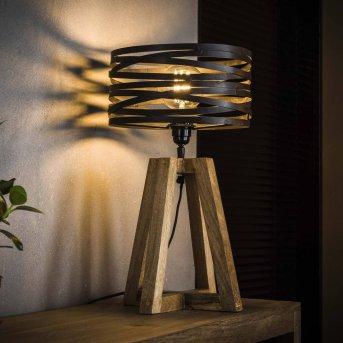 BEILEN Lámpara de mesa Madera oscura, 1 luz
