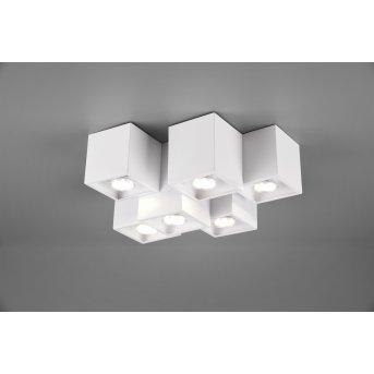 Trio Fernando Lámpara de Techo Blanca, 6 luces
