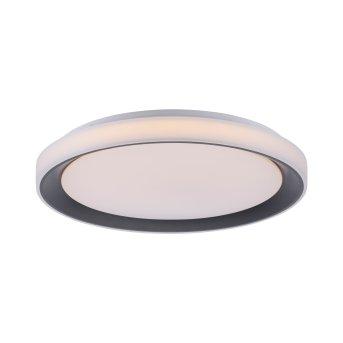 Leuchten-Direkt LOLAsmart_DISC Lámpara de Techo LED Negro, 1 luz, Mando a distancia, Cambia de color