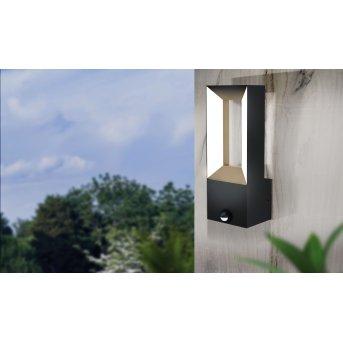Eglo RIFORANO Aplique para exterior LED Negro, 2 luces, Sensor de movimiento