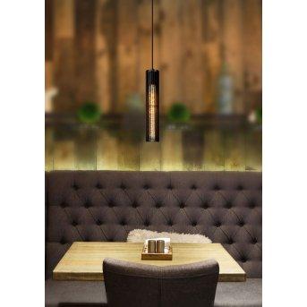 Lucide LIONEL Lámpara Colgante Negro, 1 luz
