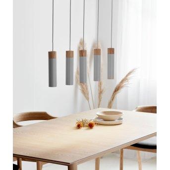 Nordlux TILO Lámpara Colgante Gris, 5 luces