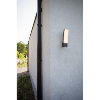 Lutec Kira Aplique para exterior LED Antracita, 1 luz