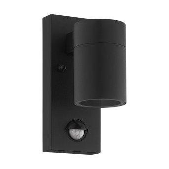 Eglo RIGA Aplique para exterior LED Negro, 1 luz, Sensor de movimiento