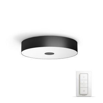 Philips Hue Ambiance White Fair Lámpara de Techo LED Negro, 1 luz, Mando a distancia