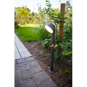 Lutec Dakota Poste de Jardín LED Antracita, 1 luz