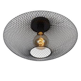 Lucide MESH Lámpara de Techo Negro, 1 luz