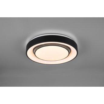 Reality Mona Lámpara de Techo LED Negro, 1 luz, Cambia de color