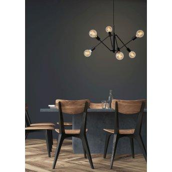 Lucide LESTER Lámpara Colgante Negro, 6 luces