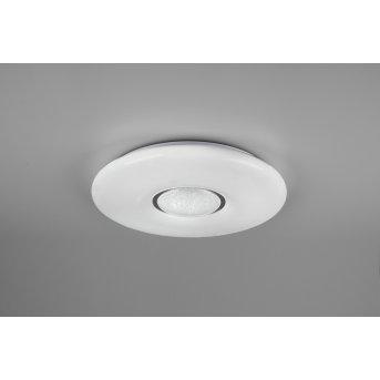 Reality Lia Lámpara de Techo LED Blanca, 1 luz, Cambia de color