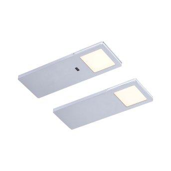 Paul Neuhaus AMON Lámpara para armarios LED Plata, 2 luces, Sensor de movimiento