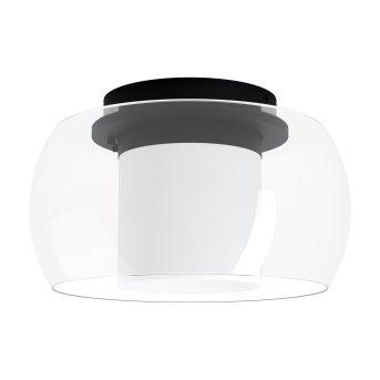 Eglo BRIAGLIA Lámpara de Techo LED Negro, 1 luz, Cambia de color
