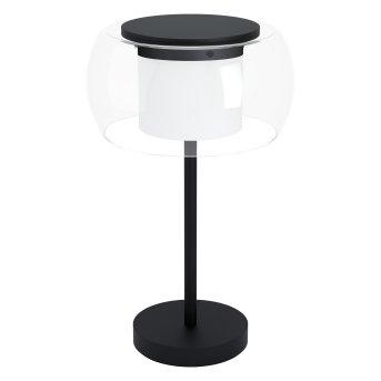 Eglo BRIAGLIA Lámpara de mesa LED Negro, 1 luz, Cambia de color