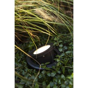LUTEC ARTIC Foco empotrable de suelo LED Negro, 1 luz