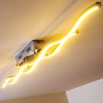 Paul Neuhaus EMMA Lámpara de techo LED Acero inoxidable, 2 luces