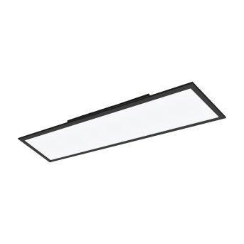 Eglo SALOBRENA Lámpara de Techo LED Negro, 1 luz, Cambia de color