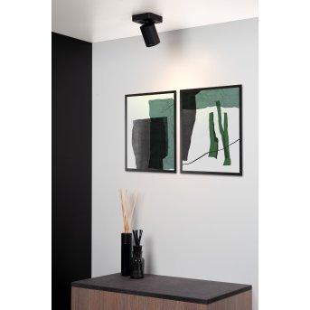 Lucide NIGEL Lámpara de Techo LED Negro, 1 luz