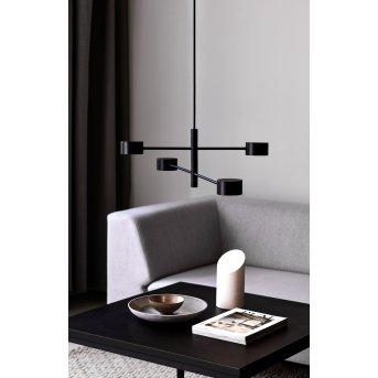 Nordlux CLYDE Lámpara Colgante LED Negro, 4 luces