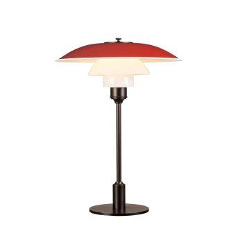 Louis Poulsen 3½-2½ Lámpara de Mesa Rojo, 1 luz