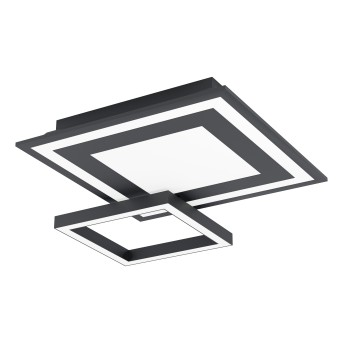 Eglo SAVATARILA Lámpara de Techo LED Negro, 1 luz, Cambia de color