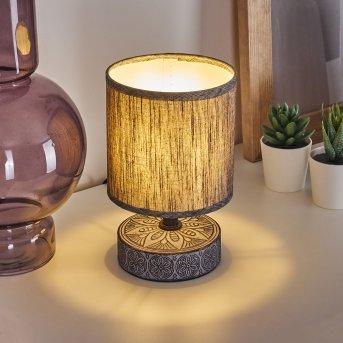 Kigombo Lámpara de mesa Negro, Gris, 1 luz