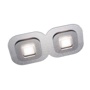Grossmann AP Lámpara de Techo LED Gris, Aluminio, 2 luces