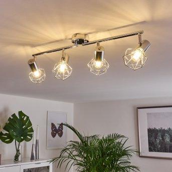 Globo Foco de techo Cromo, 4 luces