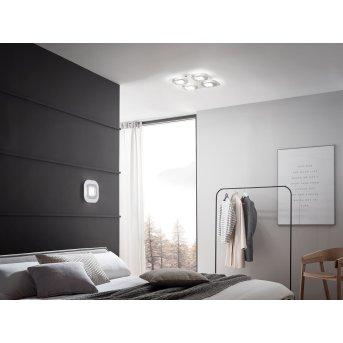 Grossmann AP Lámpara de Techo LED Gris, Aluminio, 4 luces